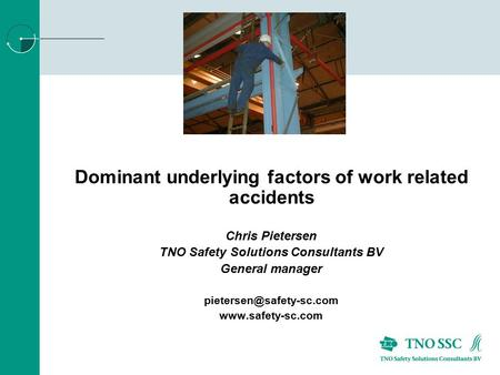 Dominant underlying factors of work related accidents