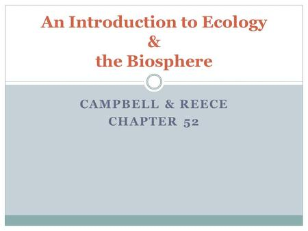 Ecology/Introduction