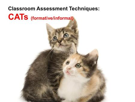 Classroom Assessment Techniques: CATs (formative/informal)