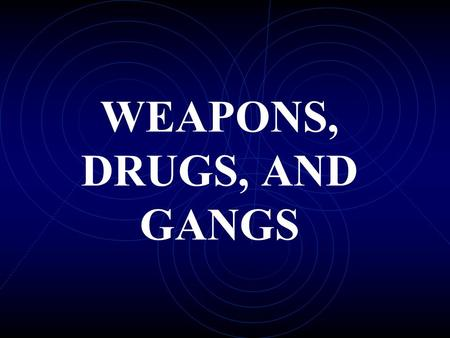 WEAPONS, DRUGS, AND GANGS STABILIZATION OF LARGE CITY DRUG MARKETS INCREASED POLICE EFFORT IN LARGE CITIES DECREASED CRIME RATES DISPLACEMENT THEORY.