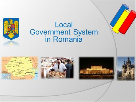 Local Government System in Romania. Map of Europe.