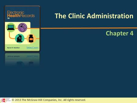 © 2013 The McGraw-Hill Companies, Inc. All rights reserved. Chapter 4 The Clinic Administration.