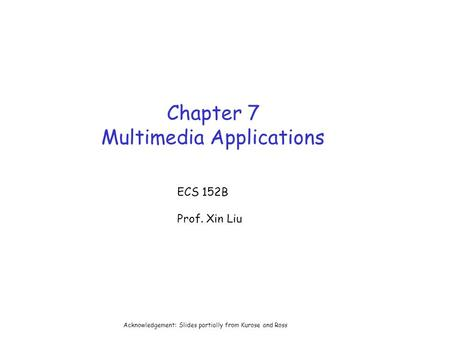 Chapter 7 Multimedia Applications