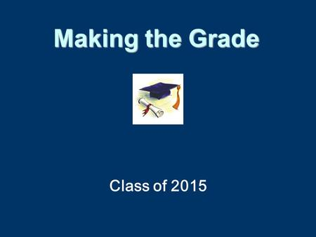Class of 2015 Making the Grade. Grade Point Average A=4B=3C=2D=1F=0 AP and Dual Enrollment courses are weighted: A=5B=4C=3 Sample Calculation-- Grade.