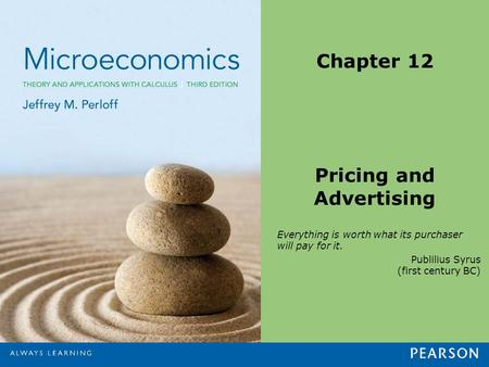 Chapter 12 Pricing and Advertising