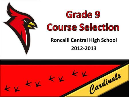 Roncalli Central High School 2012-2013 Cardinals.