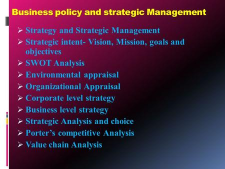 strategic management and public policy study Theodore h poister is a professor of public management and policy at the andrew young school of policy studies at georgia state university he has published widely on strategic management.