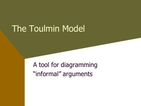 "A tool for diagramming ""informal"" arguments"
