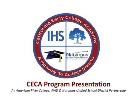 CECA Program Presentation An American River College, AVID & Natomas Unified School District Partnership.