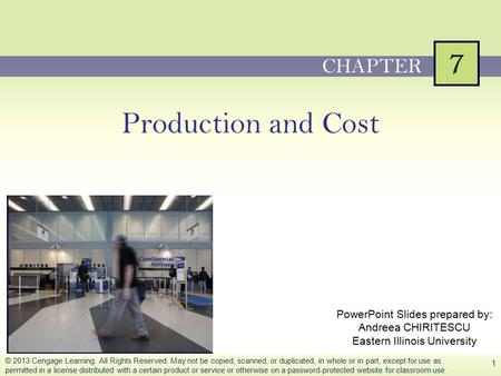 Production and Cost CHAPTER