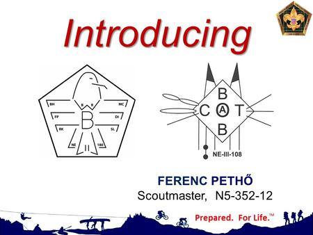 Introducing FERENC PETHŐ Scoutmaster, N