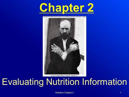 Chapter 2 Evaluating Nutrition Information Nutrition-Chapter 21.