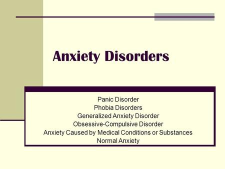 essays on anxiety disorders You have not saved any essays social anxiety disorder (social phobia) is the third largest mental health care problem in the world this disorder affects 7% of the.