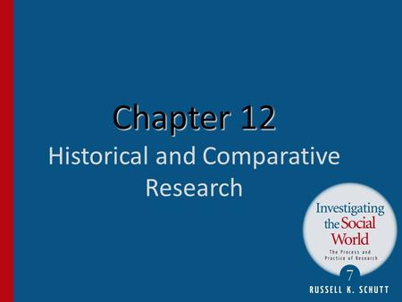 Chapter 12 Historical and Comparative Research