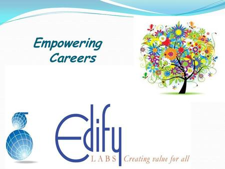 Empowering Careers. An Initiative by Edify Labs A winner is someone who recognizes his God-given talents, works his tail off to develop them into skills,