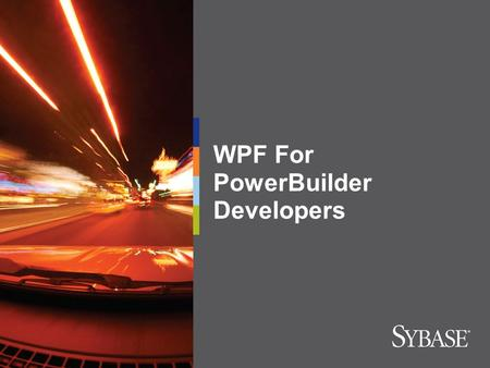 WPF For PowerBuilder Developers