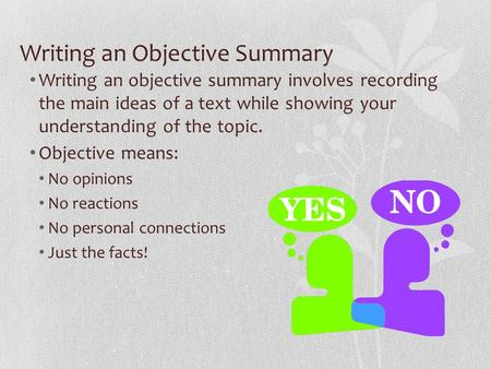 Objectivity in essay writing
