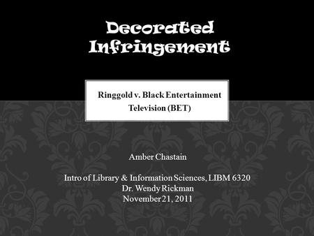 Ringgold v. Black Entertainment