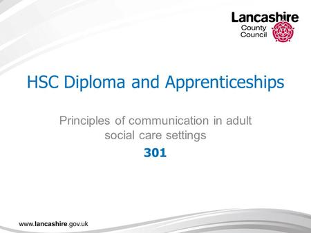 unit 1 principles of communication in adult social care settings Celebrating 125 years of building futures through a wide range of technical and professional qualifications at blackpool and the fylde college toggle when working directly with adults in a social care range of strategies surrounding adult care including communication.