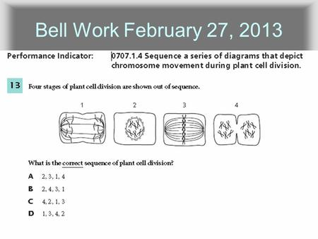 Bell Work February 27, 2013. What happened here?