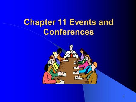1 Chapter 11 Events and Conferences. 2 Types of Events Mega events – high cost, large volume of visitors. Example: Olympics Hallmark events – major, one-time,