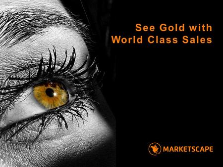 See Gold with World Class Sales. into North America Power your business 1 goal — 3 million dollars of sales in 24 months.