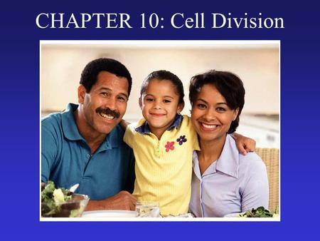 CHAPTER 10: Cell Division. Why Cell Division? (We will use the following analogy to understand cell division.) ANALOGY A cell is like a town. The DNA.