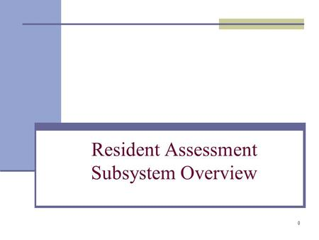 0 Resident Assessment Subsystem Overview. 1 Resident Assessment Subsystem (RASS) What is RASS? The RASS survey is a PHA management tool that: Assesses.