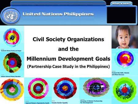 Civil Society Organizations and the Millennium Development Goals (Partnership Case Study in the Philippines)