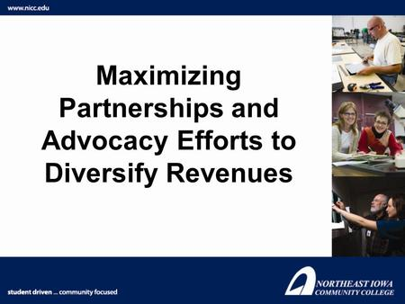 Maximizing Partnerships and Advocacy Efforts to Diversify Revenues.