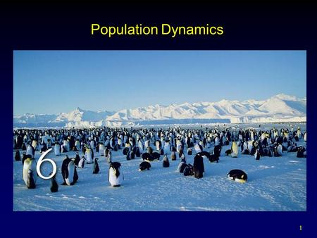 1 Population Dynamics. 2 Outline Dynamics of Population Growth  Exponential vs. Arithmetic Growth  Malthusian vs. Logistic Growth Population Increase.