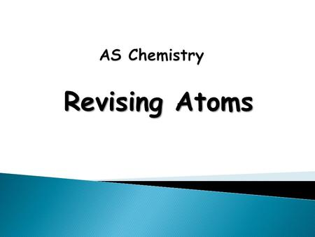 Revising Atoms. Learning Objectives Candidates should be able to:  Identify and describe protons, neutrons and electrons in terms of their relative charges.