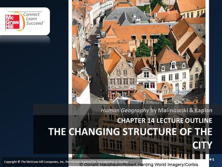 Chapter 14 LECTURE OUTLINE The CHANGING STRUCTURE OF THE CITY