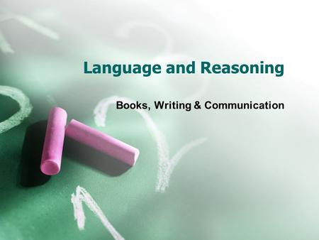 Language and Reasoning Books, Writing & Communication.