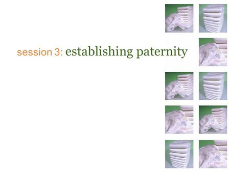 Session 3: establishing paternity. Texas law recognizes 4 types of fathers… Biological Alleged Presumed Legal.