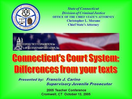 Connecticut's Court System: Differences from your texts