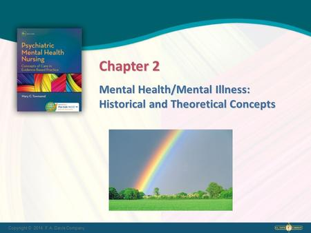 Copyright © 2014. F.A. Davis Company Mental Health/Mental Illness: Historical and Theoretical Concepts Chapter 2.