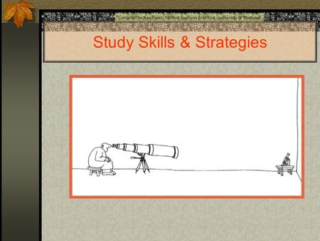 Study Skills & Strategies Compiled by Ken Zajac Student Success Services University of Wyoming.