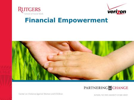 Center on Violence Against Women and Children Financial Empowerment.