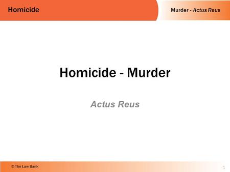 scottish law basics crime actus reus Criminal law, and later in the chair of scots law, at edinburgh university was   distinction in english law) is basic to our understanding of the law of  assault in  scots criminal law, which is one offence with one actus reus and one mens.