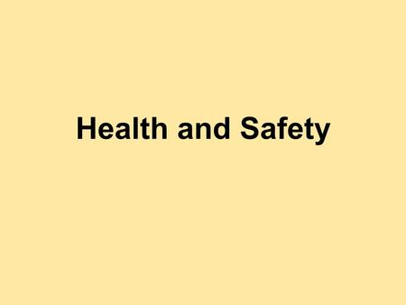 Health and Safety. The Health and Safety at Work Act 1974 An Act to make further provision for securing the health, safety and welfare of persons at work,