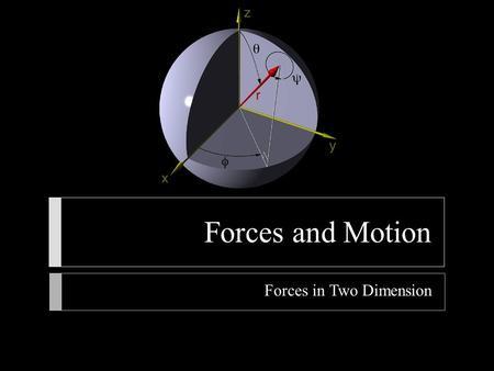 Forces in Two Dimension