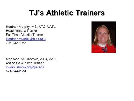 TJ's Athletic Trainers