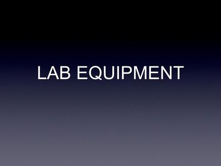 LAB EQUIPMENT. Beaker used for storing and mixing liquids.