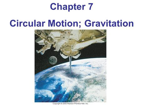 Chapter 7 Circular Motion; Gravitation. Units of Chapter 7 Kinematics of Uniform Circular Motion Dynamics of Uniform Circular Motion Highway Curves, Banked.