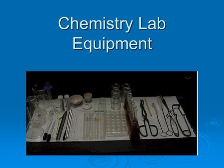 Chemistry Lab Equipment  Beakers  Wide mouth gas collecting bottles with glass plates.