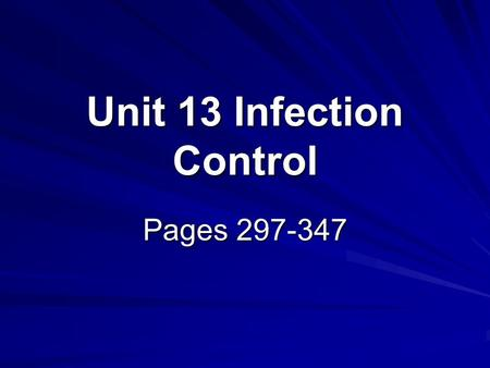 unit 9 the principles of infection