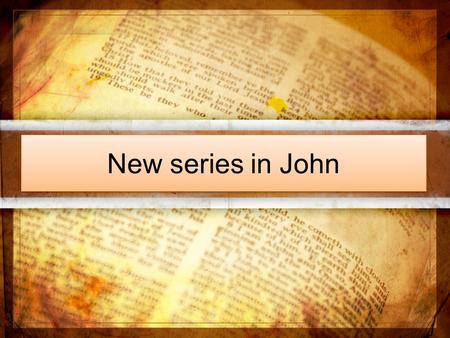 New series in John. John 7 1 After this, Jesus went around in Galilee. He did not want to go about in Judea because the Jewish leaders there were looking.