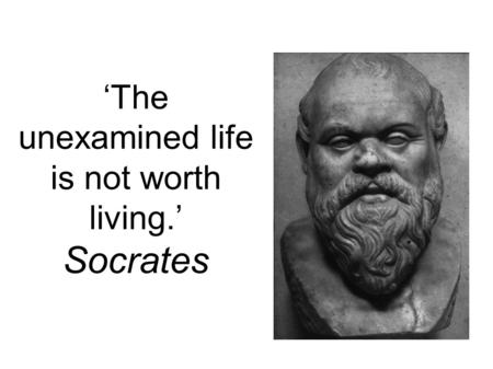 Socrates the unexamined life is not