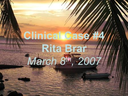 Clinical Case #4 Rita Brar March 8 th, 2007. A 70 year old female went to the ER due to frequent fainting spells. She was diagnosed to have hypertension.